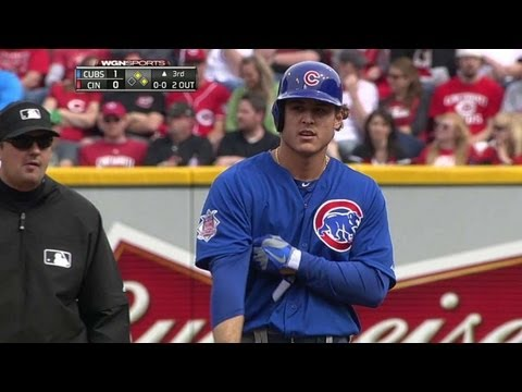 Video: CHC@CIN: Rizzo doubles home the first run of the game