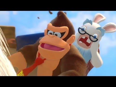 Mario + Rabbids Donkey Kong DLC - Walkthrough Part 1 - World 1 (видео)