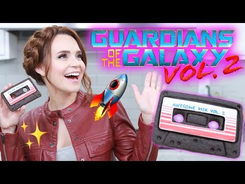 How to Make Out of This World Cookie Versions of StarLord  s Awesome Mix Cassette