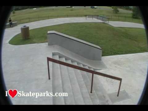 iloveskateparks.com Tour - Jim Warren Skate Plaza - Franklin - TN
