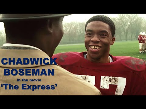 CHADWICK BOSEMAN movie scene - starring as Floyd Little in The Express (2008)