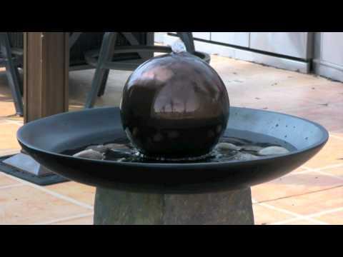 Video for Sleek Natural Green Slate Floor Fountain
