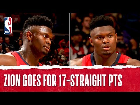 Zion Williamson Goes OFF for 17 STRAIGHT POINTS In NBA Debut!!