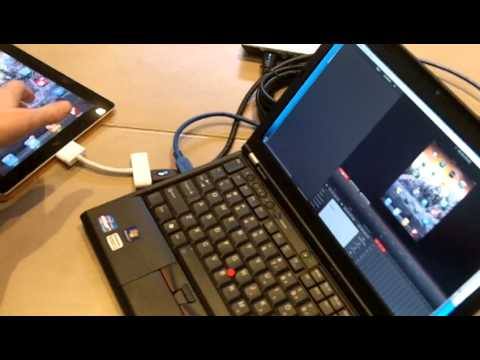 iPad 2 hdmi capture with a Lenovo X220 Laptop using an Intensity Shuttle
