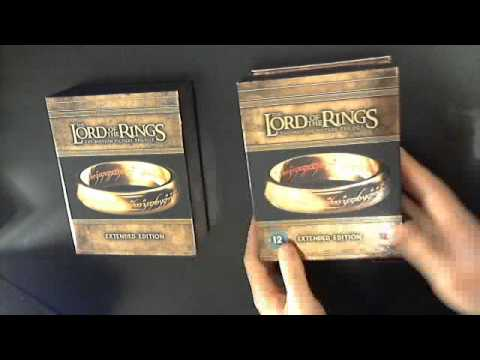 Lord of the Rings: Extended Edition - Bluray Boxset Comparison - UK vs US