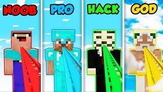 Minecraft NOOB vs. PRO vs. HACKER vs. GOD: ROLLER COASTER ESCAPE in Minecraft! (Animation)