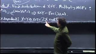 Lecture 18: MGFs Continued   Statistics 110