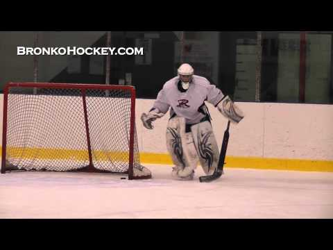 Bronko Hockey Goalie Training with Tenders Goaltending Academy.wmv