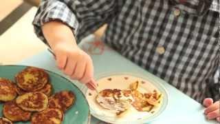 Zoete pannenkoekjes met courgette