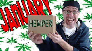 Hemper Unboxing January Stoner Subscription Box with Coupon Code by Sound Experiments