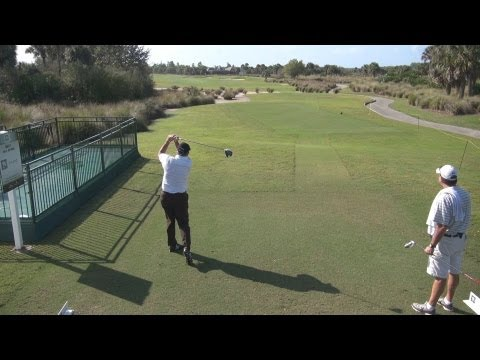 GOLF SWING 2013 – ALLEN DOYLE DRIVER – ELEVATED DOWN THE LINE & SLOW MOTION – HQ 1080p HD