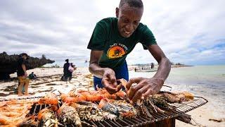 Video LOBSTER BEACH BBQ! And Unique Kenyan Street Food in Malindi, Kenya! MP3, 3GP, MP4, WEBM, AVI, FLV Juli 2019