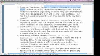Software Engineering II - PART 1 Weekend (4/2 And 4/3)