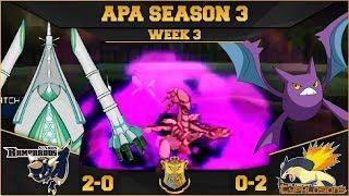 TO THE FINAL (U)-TURN!! | StL Rampardos VS FL Typhlosions APA S3 W3  | Pokemon Ultra Sun Moon by aDrive