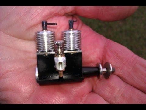 Micro rc twin cylinder diesel engine 0.4cc