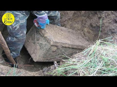 Russian Guy Finds A Buried Nazi Treasure Chest In His Yard