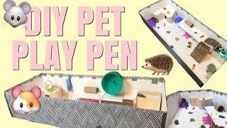 MAKING A SMALL PET PLAYPEN! | DIY | Hamsters, Mice, Gerbils by Emma Lynne Sampson