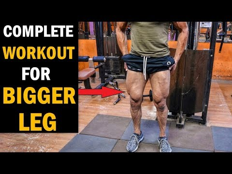 Fat burner - Complete Leg Workout for BIGGER LEGS - Full Quads, Hams, Calves Exercise (Home/Gym)
