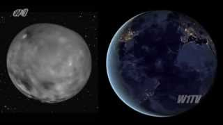 Lights comparison in Ceres and Earth at Night - see and draw your own conclusions #MysteryHunter