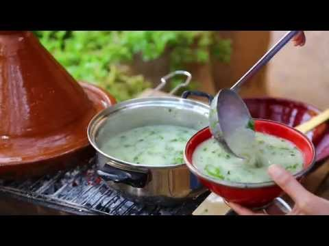 Soupe au chou orge et huile d'olive