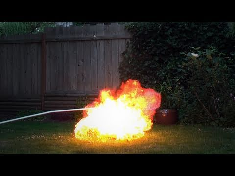 forresttrenaman - This is what happens when you fill up a balloon with propane and light it on fire.