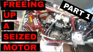 3. Freeing up a Seized Motor in a 1985 Honda VF1100 Sabre (V65) Part:1