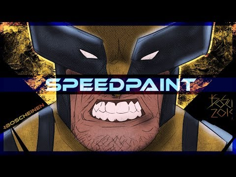 Wolverine Marvel Comics Speedpaint on PSD - Thời lượng: 10 phút.