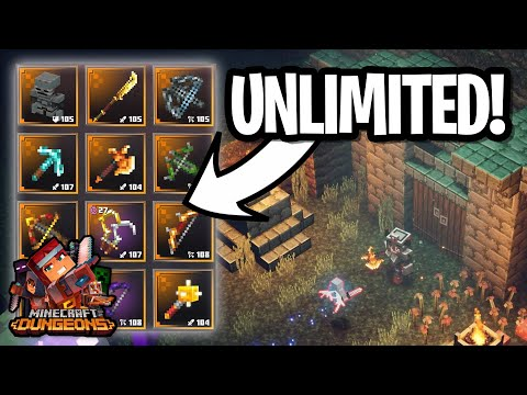 How To Get UNLIMITED UNIQUE GEAR FAST In Minecraft Dungeons!