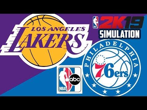 Lakers vs 76ers - NBA on ABC - NBA 2K19 (Full Game)