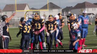 NCAFA 2K16 -BANTAM - Week 7 KANATA KNIGHTS VS WARRIORS