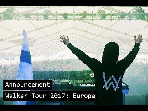 Alan Walker - Walker Tour 2017: Europe (Trailer)
