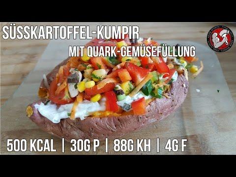 Süßkartoffel Kumpir mit Quark- & Gemüsefüllung | Hauptmahlzeit