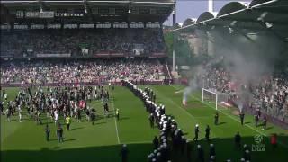 Download Video Rapid-Fans stürmen Spielfeld // SPIELABBRUCH // 297. Wiener Derby // 22.05.2011 ORF HD MP3 3GP MP4