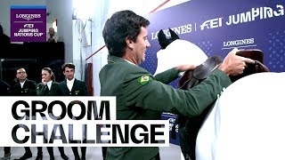 How do you do without your Groom? - Team Challenge | Longines FEI Jumping Nations Cup™