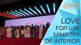 Kinetic Ceiling, 3D Mapping, Selfie Video Wall - LOVE for UAE ( Abu Dhabi)
