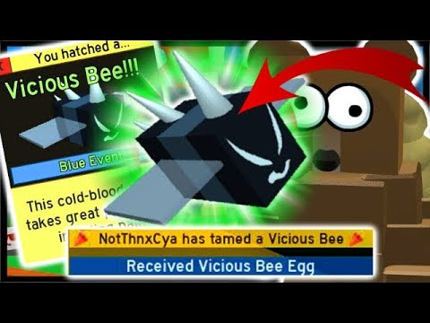 *VICIOUS BEE* EGG 250 Stingers, 4x GrandMaster Badge! | Roblox Bee Swarm Simulator