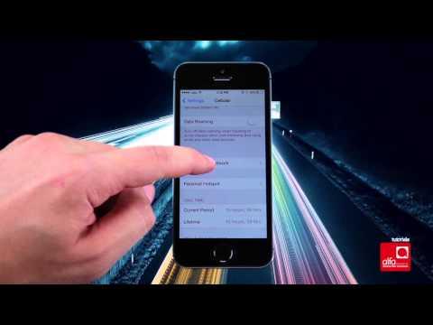 كيف تدخل إعدادات الإنترنت التابعة لألفا على هاتف iPhone