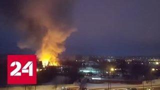 Пожар в фитнес-центре в Куркино: в здании обрушилась кровля
