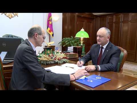 Президент Игорь Додон провел встречу с Министром Ионом Пержу