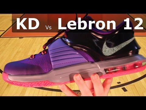 Nike Lebron 12 Vs Kevin Durant KD Basketball Shoes