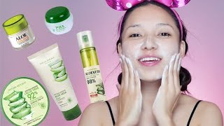"Hello sunshines! Have you thought of using every products made with aloevera?Well I did, I wanted to try everything made with aloevera and wanted to share with you so here is my first impression, hope you like it!Products used:Befista Cleansing waterBefista Eye & Lip makeup removerNature Republic - Cleansing gel foamFrom Nature - Gel mist / tonerAloe Eye gel Dabo - Moisturiser Nature Republic - Aloevera gel mask Come say hi...Instagram: (GDiipa) https://www.instagram.com/gdiipa/Facebook: https://www.facebook.com/gdiipamakeupandskincare/?ref=settingsBlog: http://www.gdiipa.com/For business, please email at: Email: gurungdiipa@hotmail.com-~-~~-~~~-~~-~-Please watch: ""How to enhance your beauty without using too much makeup - Beauty Makeover"" https://www.youtube.com/watch?v=VS1F6TjBkWM-~-~~-~~~-~~-~-"