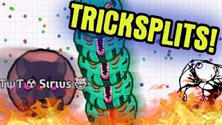 TRICKSPLIT GAMEPLAY // Agario Gameplay // TYT Agar.io