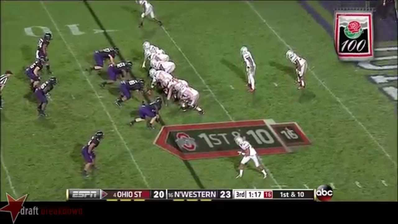 Corey Linsley vs Northwestern (2013)