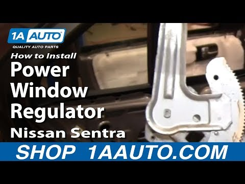How To Install Replace Rear Power Window Regulator Nissan Sentra 00-06 1AAuto.com