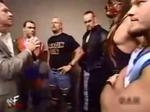 WWE STONE COLD , UNDERTAKER , KANE , KURT ANGLE , CHRIS JERICHO , VINCE MCMAHON SEGMENT