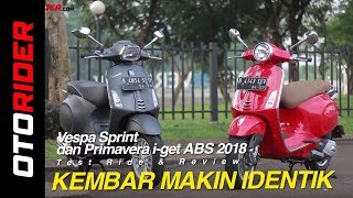 1. Vespa Sprint dan Primavera i-get ABS 2018 Test Ride Review | OtoRider