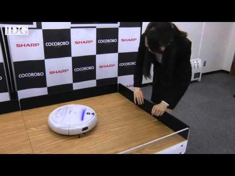 , title : 'Sharp's new robot vacuum talks back, takes pictures, streams video to your phone via Wi-Fi'
