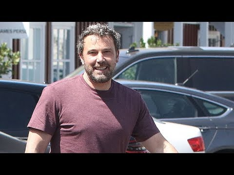A Happy Ben Affleck Picks Up A Gift - Maybe For New Girlfriend Lindsay