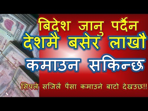 How to Earn More money in Nepal |नेपालमै लाखौ कसरी कमाउने | Earn Money in Nepal | online | offline |