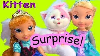 Disney Frozen Queen Elsa&Princess Anna Toddler Kitty Surprise Baby Kitten Mystery Toy Cookieswirlc